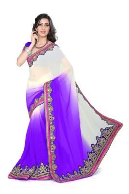 Sareeka Sarees Plain, Embriodered Fashion Silk Sari