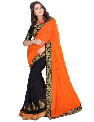 Prem International Self Design Fashion Handloom Georgette Sari