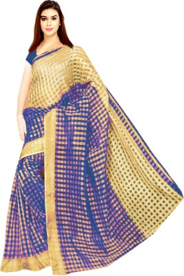 Tyra Sarees Checkered Banarasi Handloom Polycotton Sari