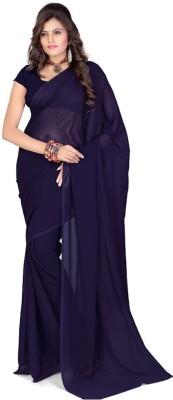 Purple Oyster Plain Fashion Viscose Sari