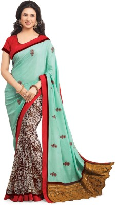 Ridham Sarees Printed Bollywood Handloom Georgette Sari