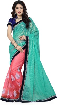 Ayushi Apparel's Embriodered Bollywood Net, Georgette Sari