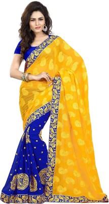 Ethnic For You Embriodered Fashion Chiffon, Georgette Sari