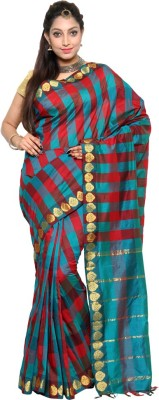 Urban Village Self Design Dharmavaram Handloom Polycotton Sari