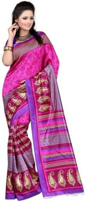 Henna Trendz Printed Fashion Art Silk Sari