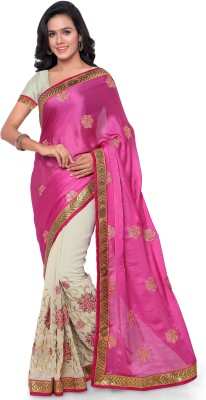 Four Seasons Embriodered Fashion Jacquard, Net Sari