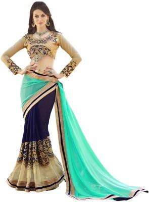 TrynGet Embellished Fashion Handloom Georgette Sari