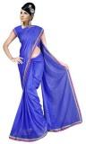 GSI Solid Daily Wear Viscose Saree (Blue...