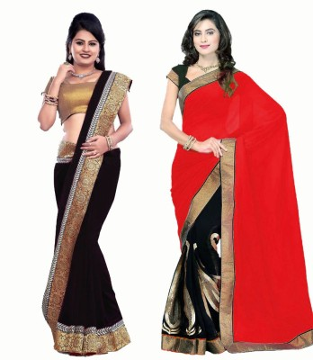 Bhuwal Fashion Self Design Fashion Chiffon Sari