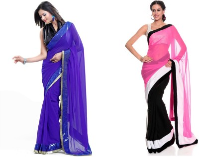 Bindani Studio Embriodered Fashion Handloom Chiffon Sari