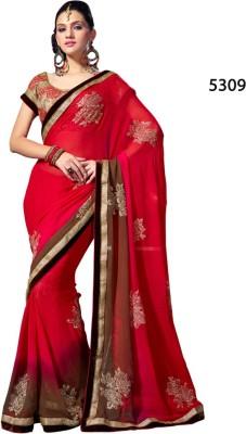 Parvati Fabrics Embriodered Fashion Georgette Sari