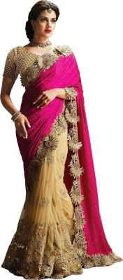 Fabfirki Fashion Hub Embriodered Fashion Net Sari
