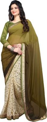 RV Fashions Printed Fashion Chiffon Sari