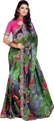 DEEPANJALI PRINTS Printed Bollywood Chiffon Sari