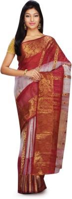 Rudrakshhh Dhakai Embriodered Garad Handloom Silk Cotton Blend Sari