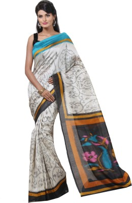 Cutie Pie Printed Fashion Handloom Dupion Silk Sari
