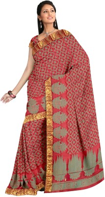 Zeeshan Sarees Self Design Banarasi Silk Sari