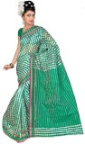 Blazon Checkered Bollywood Cotton, Silk ...