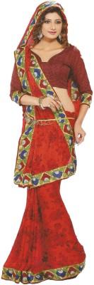 Nidhi Collection Printed Fashion Chiffon Sari
