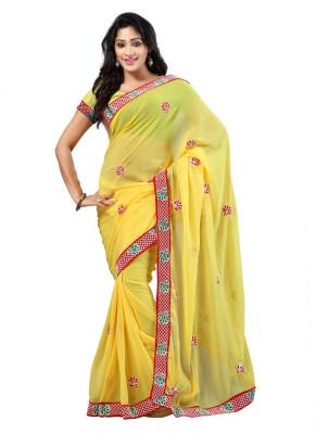 Shagun Prints Embriodered Fashion Chiffon Sari