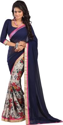 Newlook impex Self Design, Printed Bollywood Georgette Sari