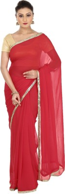 Kajal New Collection Solid Bollywood Pure Georgette Sari