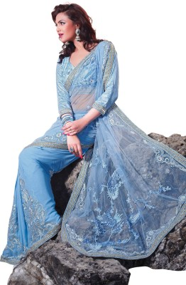 Prafful Embriodered Fashion Net Sari