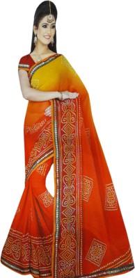 NEW LOOK DESINER Printed Bandhej Synthetic Sari