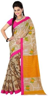Pruthu Printed Fashion Poly Silk Sari