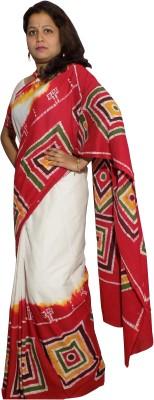 KheyaliBoutique Geometric Print Hand Batik Cotton Sari