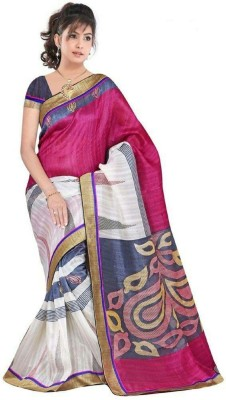 TirupatiBalaji Striped Daily Wear Cotton Lycra Blend Sari