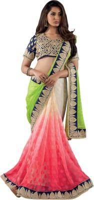 Recrafto Embriodered Fashion Georgette Sari