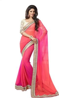 Lugda House Self Design Bollywood Handloom Chiffon Sari
