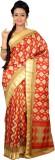 Womilo Floral Print Murshidabad Silk Sar...