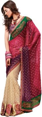 Moiaa Self Design Fashion Net Sari