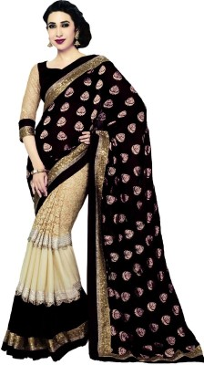 Maitri Embriodered Bollywood Velvet Sari