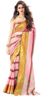 Signature Fashion Striped Bollywood Cotton Sari