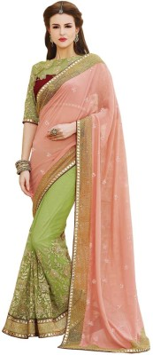 ZofeyFashion Embriodered Bollywood Georgette Sari