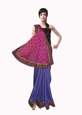 Serwans Self Design Fashion Synthetic Crepe Sari