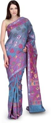 Shad Banarsi Woven Banarasi Banarasi Silk Sari(Blue)
