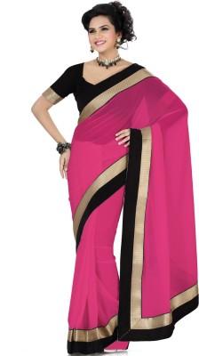 Deepika Saree Solid Bollywood Georgette Sari