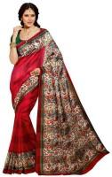 Sunita Sarees Printed Mysore Art Silk Saree(Red)