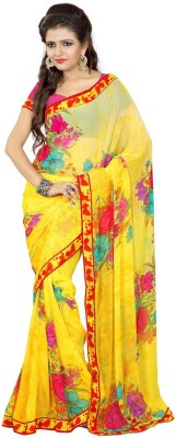 Rinkle Printed Daily Wear Synthetic Sari