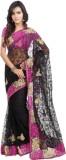 Khazana Embroidered Fashion Net Saree (B...