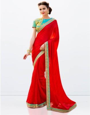 Zemi Self Design Fashion Chiffon Sari