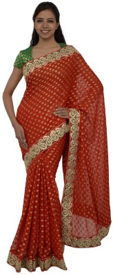 Inspira Solid Fashion Brocade Sari