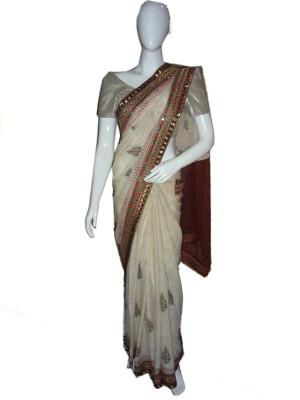 SanSaree Self Design Bollywood Jacquard Sari