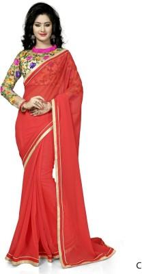 Navanya Couture Self Design Fashion Chiffon Sari