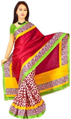 SHRI SAREES Printed Bhagalpuri Art Silk Sari