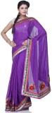 Chhabra 555 Self Design Fashion Crepe Sa...